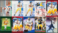 Football Cards:Lots, 2000 Fleer, Score, Press Pass and Upper Deck Tom Brady Rookie Collection (26)....