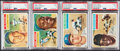 Baseball Cards:Lots, 1956 Topps Baseball Greats PSA Graded Quartet (4)....
