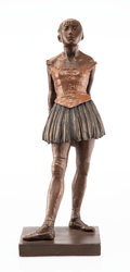 Sculpture, A Patinated Plaster Sculpture of a Dancer After Degas. Museum of Fine Arts, Houston. 18 x 6-1/2 x 6 inches (45.7 x 16.5 x 15...