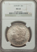 1878 8TF $1 MS64 NGC. NGC Census: (2125/368). PCGS Population: (3252/832). CDN: $375 Whsle. Bid for problem-free NGC/PCG...