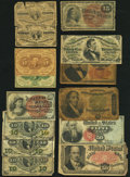 Fractional Currency:Group Lots, Fractional Group Lot Fourteen Examples Very Good or Better.. ... (Total: 14 notes)