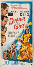 "Movie Posters:Comedy, Dream Girl (Paramount, 1948). Folded, Fine/Very Fine. Three Sheet (41"" X 80""). Comedy.. ..."