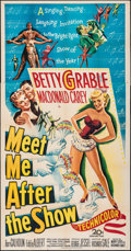 """Movie Posters:Comedy, Meet Me After the Show (20th Century Fox, 1951). Folded, Fine/Very Fine. Three Sheet (41"""" X 79""""). Comedy.. ..."""