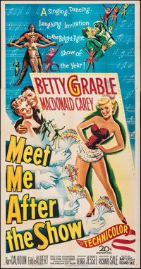 "Meet Me After the Show (20th Century Fox, 1951). Folded, Fine/Very Fine. Three Sheet (41"" X 79""). Comedy"