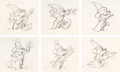 Animation Art:Production Drawing, Fantasia Mickey Mouse as the Sorcerer's Apprentice Rough Animation Drawings Sequence of 6 (Walt Disney, 1940).... (Total: 6 Original Art)
