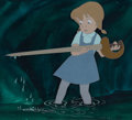 Animation Art:Production Cel, The Rescuers Penny Production Cel on Master Painted Background (Walt Disney, 1977). ...