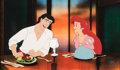 Animation Art:Production Cel, The Little Mermaid Ariel and Prince Eric Production Cel (Walt Disney, 1989). ...