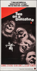 "Movie Posters:Horror, Two on a Guillotine (Warner Bros., 1965). Folded, Very Fine. Three Sheet (41"" X 79""). Horror.. ..."