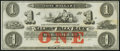 Obsoletes By State:New Hampshire, Rollinsford, NH- Salmon Falls Bank $1 18__ Remainder Crisp Uncirculated.. ...