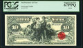 Large Size, Tim Prusmack Money Art $10 Silver Certificate Series 2000 PCGS Superb Gem New 67PPQ.. ...