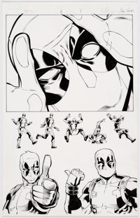 Reilly Brown and Jeremy Freeman Cable and Deadpool:Split Second #6 Original Art (Marvel/Infinite Comics, 2016)