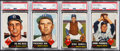Baseball Cards:Lots, 1953 Topps Brooklyn Dodgers PSA Graded Quartet (4) - Reese, Roe, Howell & Podres....