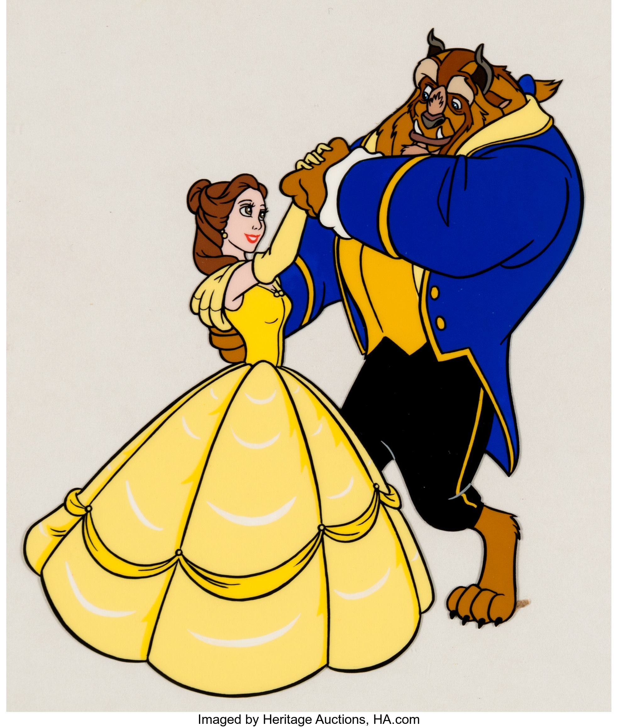 Beauty And The Beast Disney Consumer Products Color Model Cel Walt Lot 15221 Heritage Auctions