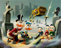 Carl Barks Dubious Doings at Dismal Downs Signed Limited Edition Lithograph Print #83/345 (Another Rainbow, 1986)