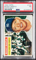 Baseball Cards:Singles (1950-1959), 1956 Topps Mickey Mantle (White Back) #135 PSA Poor 1....