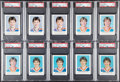 Hockey Cards:Lots, 1981 Red Rooster Edmonton Oilers Wayne Gretzky PSA Graded Collection (10)....
