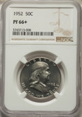 Proof Franklin Half Dollars, 1952 50C PR66+ NGC. NGC Census: (1167/897 and 12/14+). PCGS Population: (908/227 and 13/7+). CDN: $185 Whsle. Bid for probl...