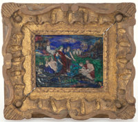 A Limoges Enamel on Copper Plaque After Nicolas Poussin's The Finding of Moses, France, 19th ce