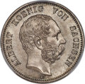 German States: Saxony. Albert 2 Mark 1876-E MS67 PCGS