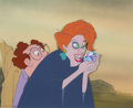 Animation Art:Production Cel, The Rescuers Madame Medusa and Mr. Snoops Production Cel on Master Production Background (Walt Disney, 1977). ...