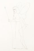 Animation Art:Production Drawing, Pinocchio Blue Fairy Animation Production Drawing (Walt Disney, 1940). ...