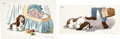 Animation Art:Concept Art, Lady and the Tramp Concept Drawings Original Art (Walt Disney, 1955)....