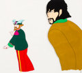 Animation Art:Production Cel, The Beatles Yellow Submarine George Harrison and Ringo Starr Production Cel Setup (United Artists/King Features, 1...