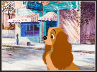 Lady and the Tramp Lady Production Cel and Painted Background (Walt Disney, 1955)