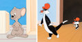 Animation Art:Production Cel, Slap-Hoppy Mouse Sylvester, Sylvester Jr. and Hippety Hopper Production Cels and Painted Backgrounds Group of 2 (Warne... (Total: 2 Original Art)