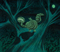 Animation Art:Concept Art, Mary Blair Alice in Wonderland Cheshire Cat Concept Painting (Walt Disney, 1951)....