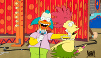 """The Simpsons """"Krusty Gets Busted"""" Krusty the Clown Production Cel (20th Century Fox, c. 1990s)"""