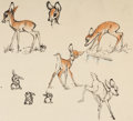 Animation Art:Concept Art, Bambi Character Study Original Art by Claire Weeks (Walt Disney, 1942)....