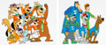 Animation Art:Production Cel, Scooby's All-Star Laff-A-Lympics Multi-Character Production Cel Group of 2 (Hanna-Barbera, 1977).... (Total: 2 Items)