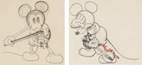 Just Mickey/Fiddlin' Around Animation Drawings Group of 2 (Walt Disney, 1930). ... (Total: 2 Original Art)