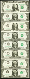 Small Size:Federal Reserve Notes, Complete Regular Block Set Fr. 1906-B; D (2); E (2); F (2); G (2); H; I; J (2); K; L (2) $1 1969C Federal Reserve Notes. Choic... (Total: 16 notes)