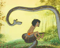 Animation Art:Production Cel, The Jungle Book Mowgli and Kaa Production Cel (Walt Disney, 1967)....