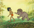Animation Art:Production Cel, The Jungle Book Mowgli and Hathi Jr. Production Cel (Walt Disney, 1967)....