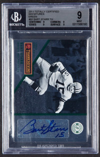 2013 Totally Certified Bart Starr Green Signatures #93 BGS Mint 9 - Serial Numbered 3/5
