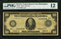 Large Size:Federal Reserve Notes, Fr. 912* $10 1914 Federal Reserve Note PMG Fine 12.. ...