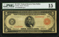 Fr. 842a $5 1914 Red Seal Federal Reserve Note PMG Choice Fine 15