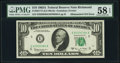 Error Notes:Mismatched Serial Numbers, Fr. 2017-E $10 1963A Federal Reserve Note. PMG Choice About Unc 58 EPQ.. ...