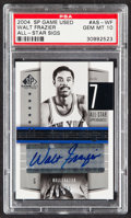 """Basketball Cards:Singles (1980-Now), 2004 SP Game Used Walt Frazier """"All-Star Sigs"""" Autograph #AS-WF PSA Gem Mint 10...."""