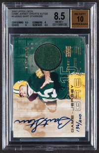 2000 Upper Deck Game Jersey Greats Bart Starr Autograph #GJG-BS2 BGS NM-MT+ 8.5, Autograph 10