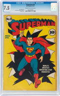 Golden Age (1938-1955):Superhero, Superman #9 (DC, 1941) CGC VF- 7.5 Cream to off-white pages....