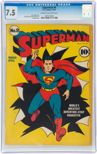 Superman #9 (DC, 1941) CGC VF- 7.5 Cream to off-white pages