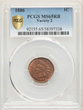 1886 1C Type Two MS65 Red and Brown PCGS. PCGS Population: (38/3 and 1/0+). NGC Census: (39/1 and 0/1+). CDN: $1,450 Whs...