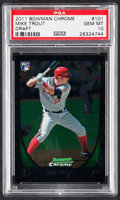 Baseball Cards:Singles (1970-Now), 2011 Bowman Chrome Draft Mike Trout #101 PSA Gem Mint 10....