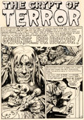 Original Comic Art:Panel Pages, Jack Davis Tales From the Crypt #29 Story Page 1 Original Art (EC, 1952)....