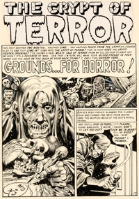 Jack Davis Tales From the Crypt #29 Story Page 1 Original Art (EC, 1952)