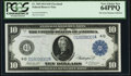 Large Size:Federal Reserve Notes, Fr. 918 $10 1914 Federal Reserve Note PCGS Very Choice New 64PPQ.. ...